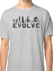 Bike Vintage Women's Evolution of Cycling Evolve Classic T-Shirt
