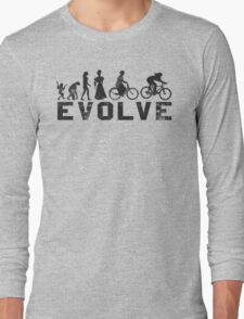 Bike Vintage Women's Evolution of Cycling Evolve Long Sleeve T-Shirt
