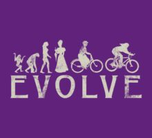 Bike Vintage Women's Evolution of Cycling by SportsT-Shirts