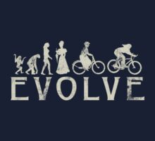 Bike Vintage Women's Evolution of Cycling Kids Clothes