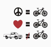Bike Peace Love Cycling by SportsT-Shirts