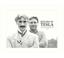 Return of Tesla Poster Image Black/White Art Print