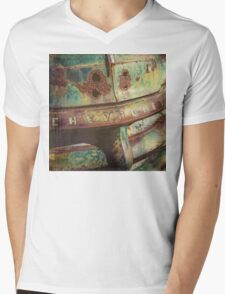 Chevy Patina Mens V-Neck T-Shirt