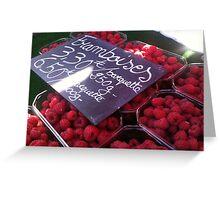 Framboises Greeting Card