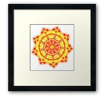 Fire Element Mandala Framed Print