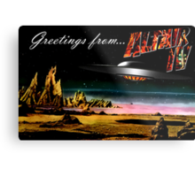 Greetings from Altair IV Metal Print