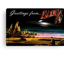 Greetings from Altair IV Canvas Print