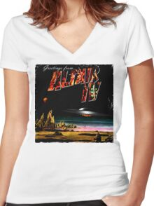 Greetings from Altair IV Women's Fitted V-Neck T-Shirt