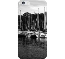 Sail Boats B&W iPhone Case/Skin