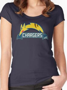 San Diego Chargers Pokemon Mashup Women's Fitted Scoop T-Shirt