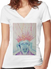 Stress Women's Fitted V-Neck T-Shirt