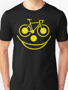 Funny Bike Cycling Smiley Face Unisex T-Shirt
