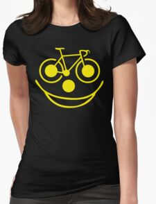 Funny Bike Cycling Smiley Face T-Shirt