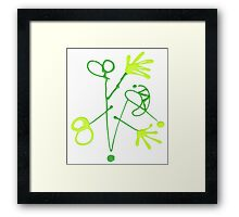 """Energetic Abstractions - """"Gadget Man"""" Framed Print"""