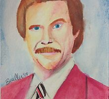 Ron Burgundy by Brenna Chapman