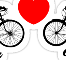 Love You Bike Cycling Bicycle  Sticker