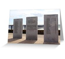 Disaster Monument Greeting Card