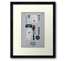 Bates Motel Art Poster Framed Print