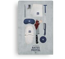 Bates Motel Art Poster Canvas Print