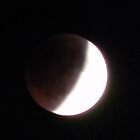 "Nearing Total Lunar Eclipse,  "" Blood Moon"", Dark Focus by Navigator"