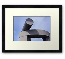 River Scuplture Framed Print