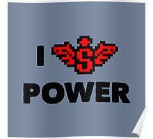 I heart Super Power Poster