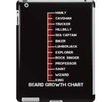 Beard Growth Chart iPad Case/Skin