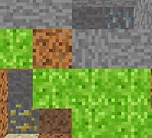 Pixel Art Mining Background by andabelart