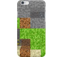Pixel Art Mining Background iPhone Case/Skin