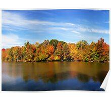 Fall on Alum Creek Lake Poster