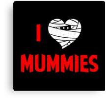 I heart Mummies Canvas Print