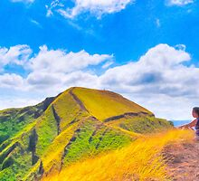 Contemplating Masaya - Ancient Volcanic Ridge by Mark Tisdale