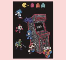 Arcade Game Booth /w background Kids Clothes