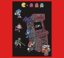 Arcade Game Booth /w background Baby Tee