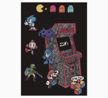 Arcade Game Booth /w background T-Shirt
