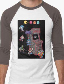 Arcade Game Booth /w background Men's Baseball ¾ T-Shirt