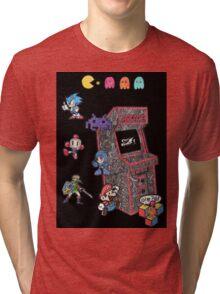 Arcade Game Booth /w background Tri-blend T-Shirt