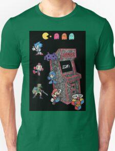 Arcade Game Booth /w background Unisex T-Shirt