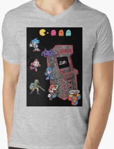 Arcade Game Booth /w background Mens V-Neck T-Shirt