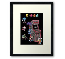 Arcade Game Booth /w background Framed Print