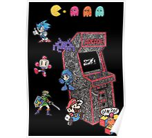 Arcade Game Booth /w background Poster