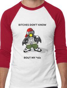 Penguin Swag Men's Baseball ¾ T-Shirt