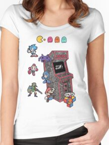 Arcade Game Booth /without background Women's Fitted Scoop T-Shirt