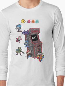 Arcade Game Booth /without background Long Sleeve T-Shirt