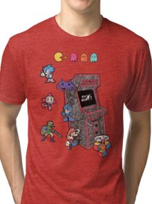 Arcade Game Booth /without background Tri-blend T-Shirt