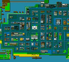 Retro City Rampage Map by jackellington