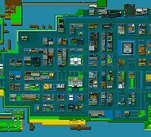 Retro City Rampage Map by jackellington