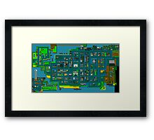 Retro City Rampage Map Framed Print