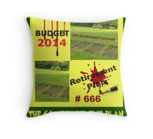 the retirement garden Throw Pillow