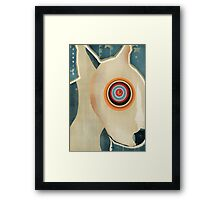 the bull terrier  Framed Print